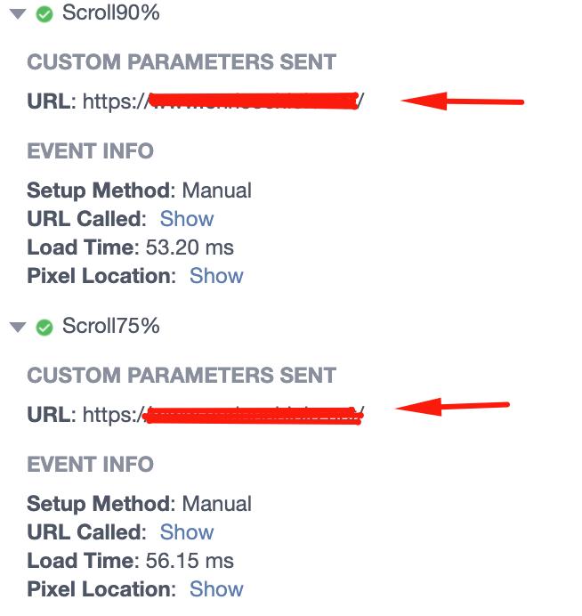 Evento e Page Url