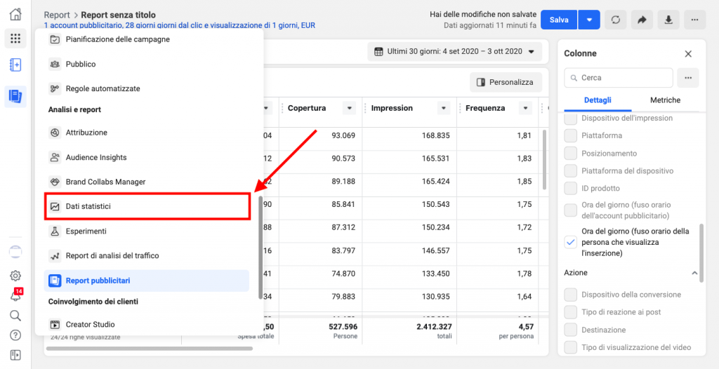 Completare l'analisi Facebook Ads con Facebook Analytics