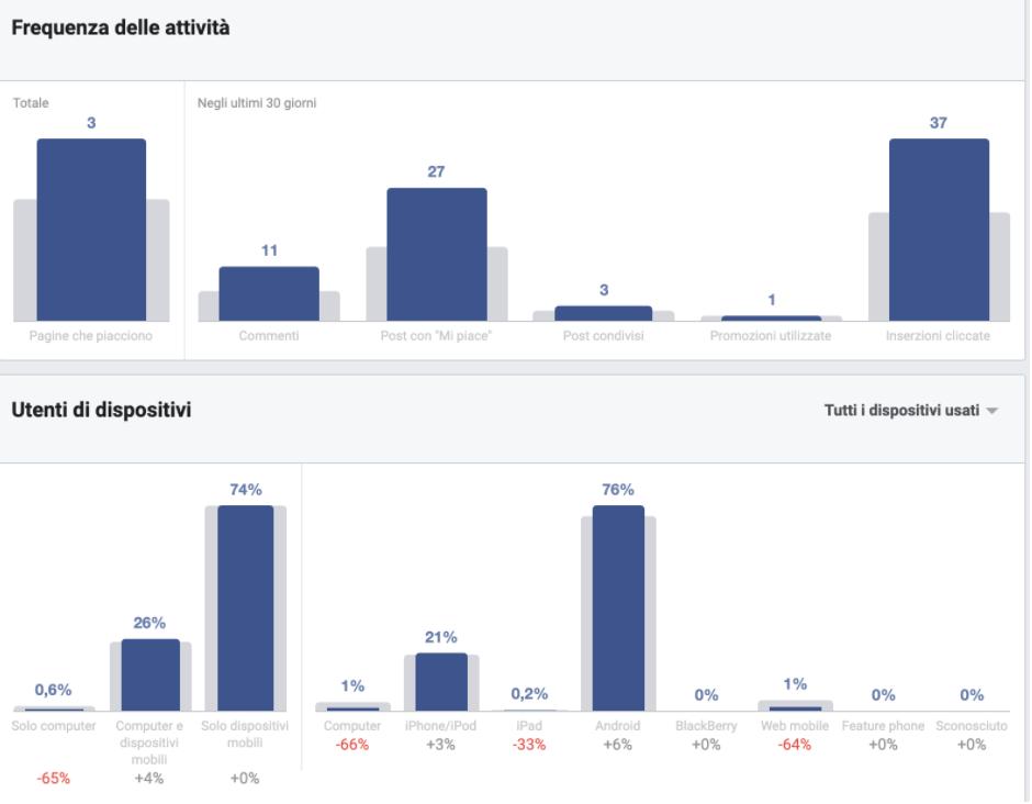 funzioni delle attività facebook audience insights