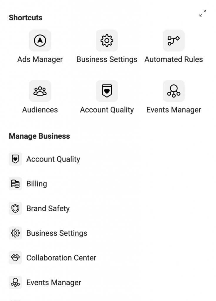 """la sezione """"regole automatiche"""" si troverà tra la sezione """"qualità dell'account"""" e la sezione  """"gestione eventi"""""""