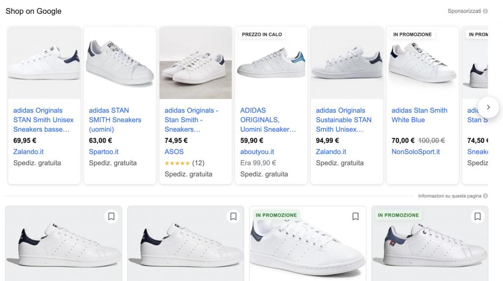 Come impostare il prezzo sulle schede prodotto su google shopping